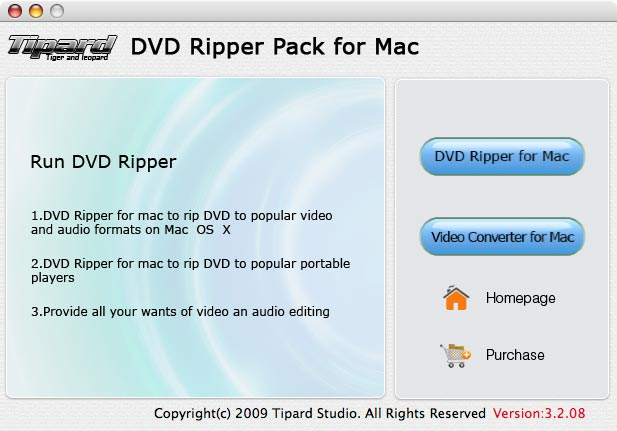 Tipard DVD Ripper Pack for Mac Screenshot