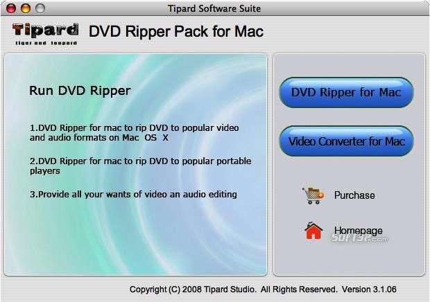 Tipard DVD Ripper Pack for Mac Screenshot 2