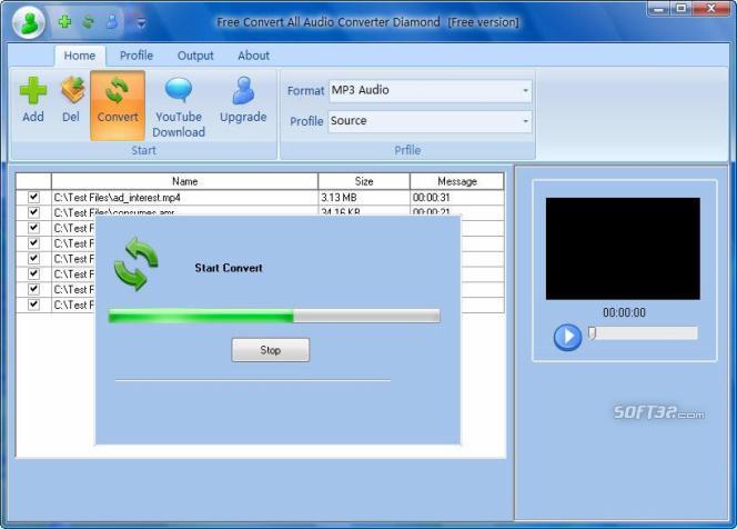 Free Convert All Audio Converter Diamond Screenshot 3