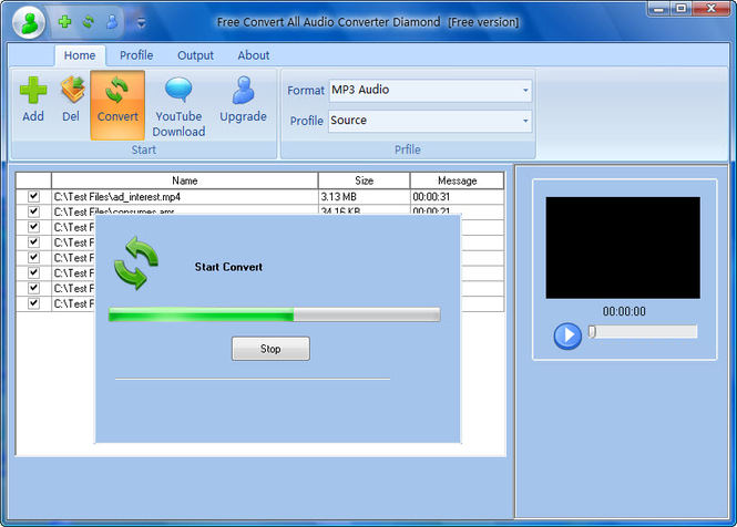 Free Convert All Audio Converter Diamond Screenshot