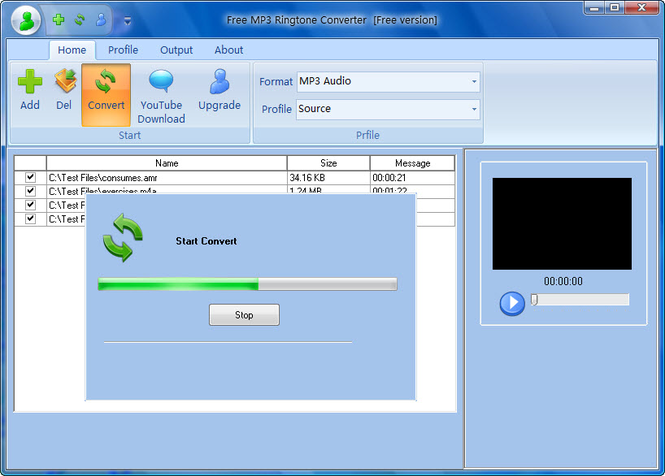Free MP3 Ringtone Converter Screenshot 1