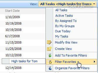 SharePoint List Filter Favorites Screenshot 3