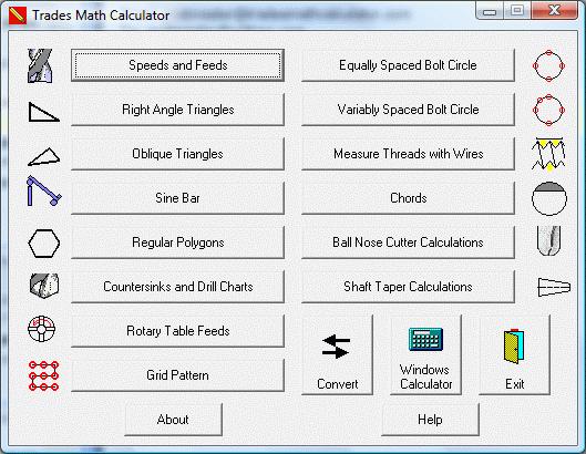 Trades Math Calculator Screenshot 1