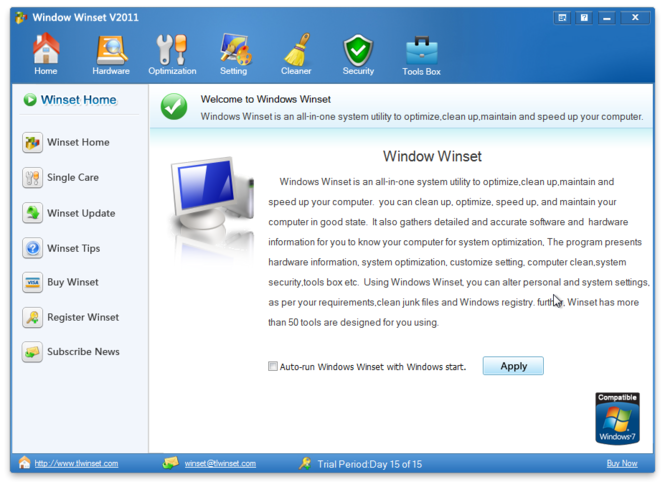 Windows Winset Screenshot 1