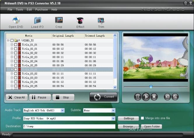 Nidesoft DVD to PS3 Converter Screenshot 3