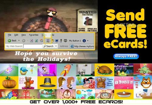 Free eCards Toolbar Screenshot
