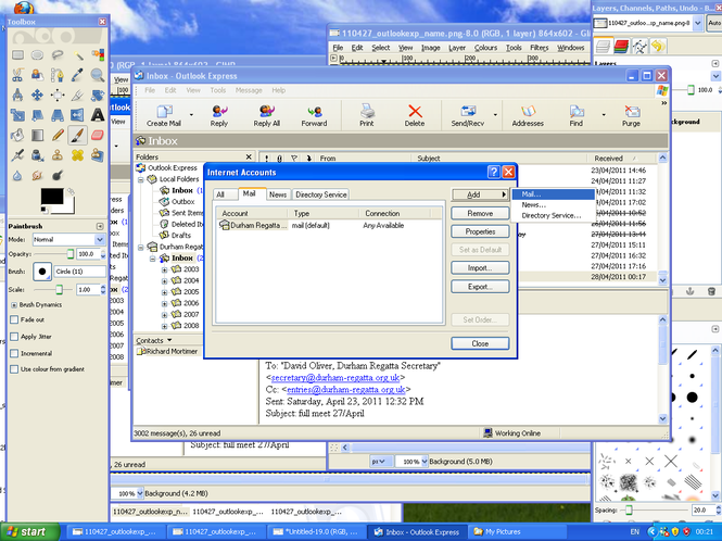 Outlook Express Screenshot