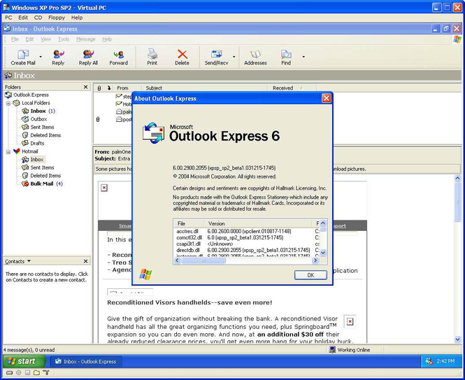Iniciar sesion correo outlook express