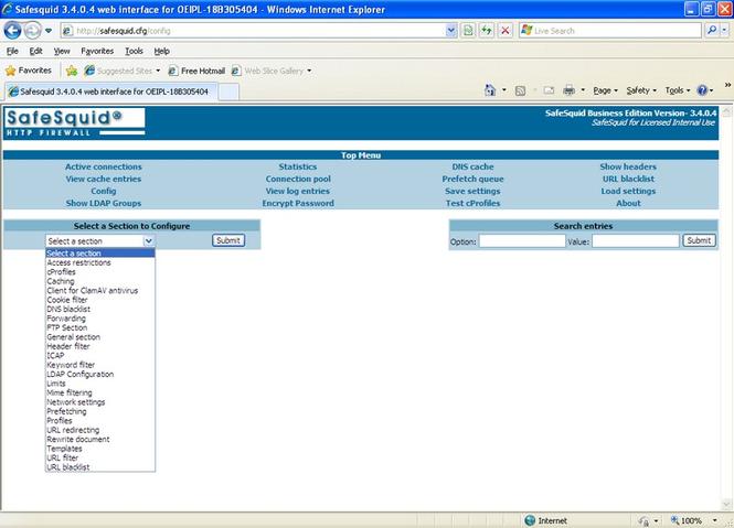 SafeSquid Business Edition 25 Screenshot