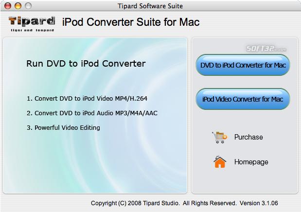Tipard iPod Converter Suite for Mac Screenshot 2