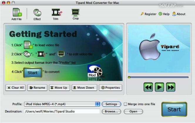 Tipard Mod Converter for Mac Screenshot 2