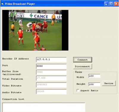 VISCOM Video BroadCast ActiveX SDK Screenshot