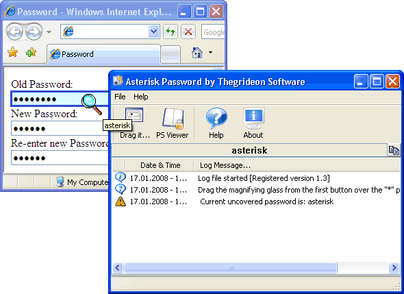 Asterisk Password (TSASP) Screenshot 1