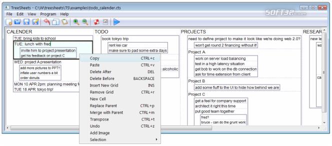 TreeSheets Screenshot 2