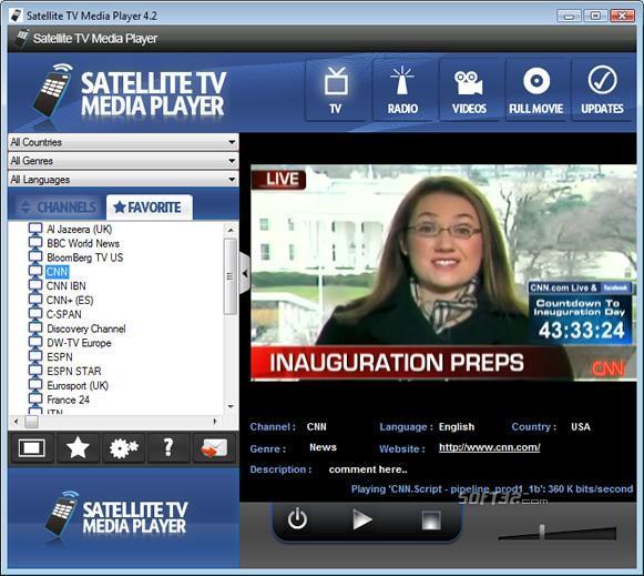 Satellite TV Media Player Screenshot 2
