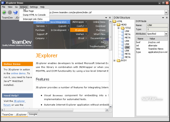 JExplorer Screenshot