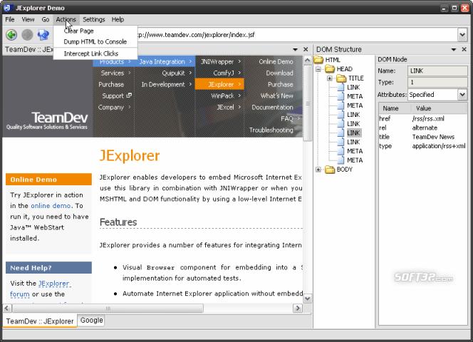 JExplorer Screenshot 1