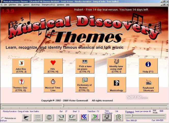 Musical Discovery Themes Screenshot