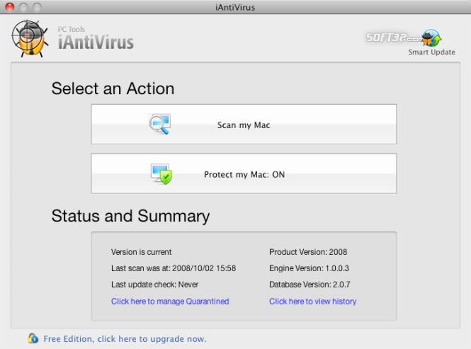 iAntiVirus Free Edition Screenshot