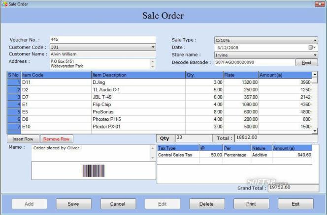 Business Billing Tool With Barcode Screenshot 2