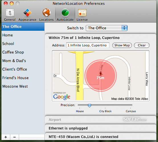 NetworkLocation Screenshot