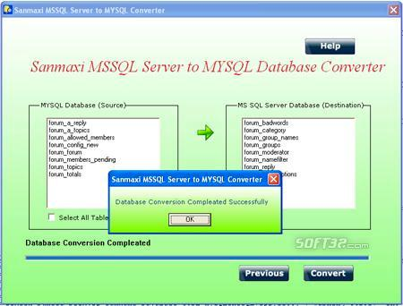 Convert MSSQL to MYSQL Database Screenshot 3
