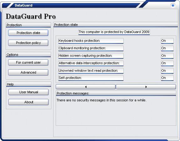 DataGuard AntiKeylogger Pro Screenshot 1
