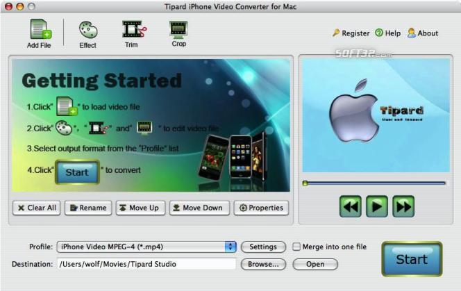Tipard iPhone Video Converter for Mac Screenshot 4