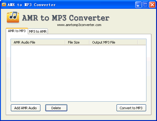 AMR to MP3 Converter Screenshot 1