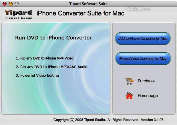 Tipard iPhone Converter Suite for Mac Screenshot 3