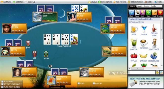 AllinSpot Poker Screenshot