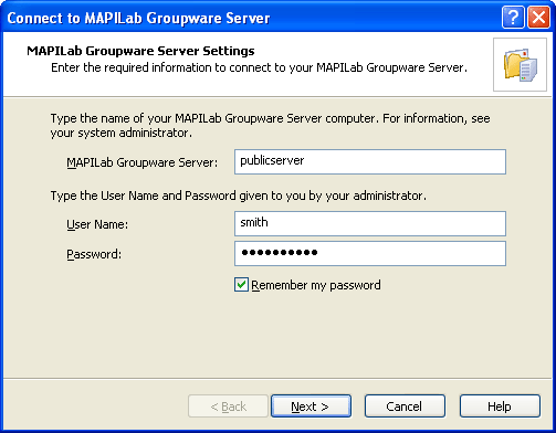 MAPILab Groupware Server Screenshot