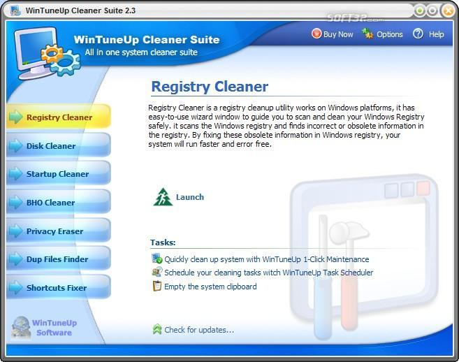 WinTuneUp Cleaner Suite Screenshot