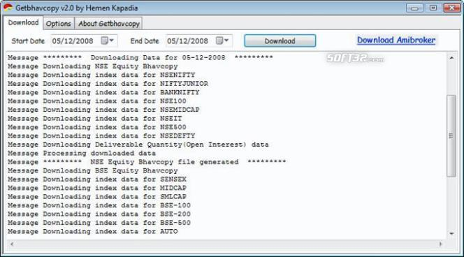 Getbhavcopy: NSE BSE data downloader Screenshot 2