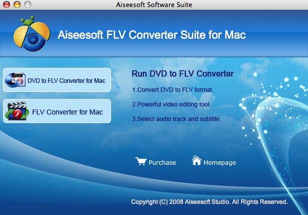 Aiseesoft FLV Converter Suite for Mac Screenshot