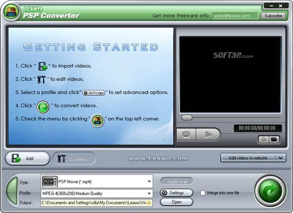 Leawo PSP Converter Pro Screenshot 2