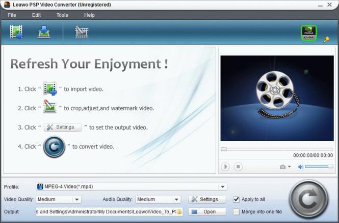 Leawo PSP Converter Pro Screenshot 1