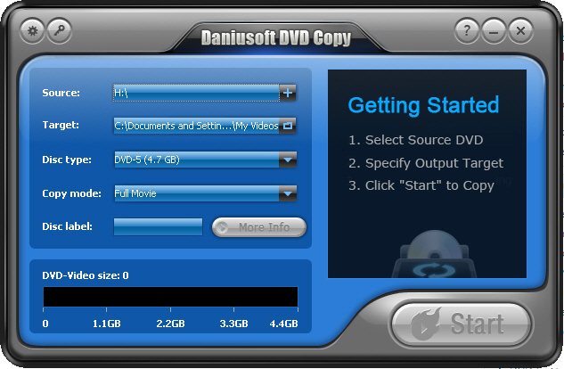 Daniusoft DVD Copy Screenshot 1