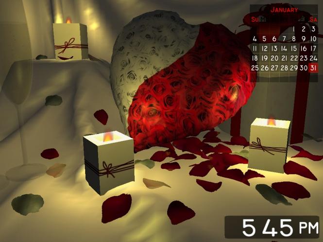 Romantic Gift 3D Screensaver Screenshot 1