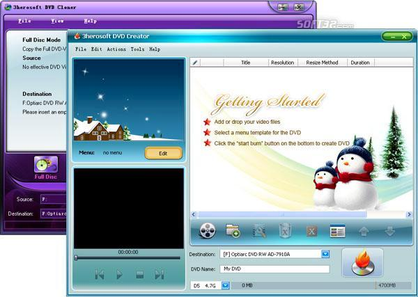 3herosoft DVD Maker Suite Screenshot 2