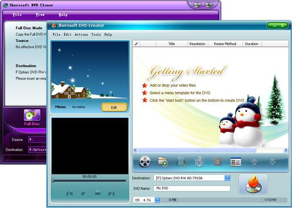 3herosoft DVD Maker Suite Screenshot 1