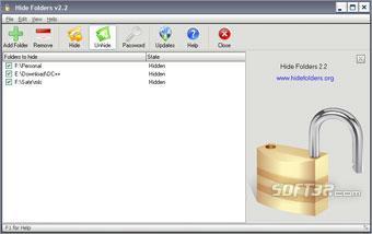 Hide Folders Screenshot 2