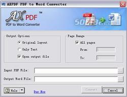 AXPDF PDF to DOC Converter Screenshot 2