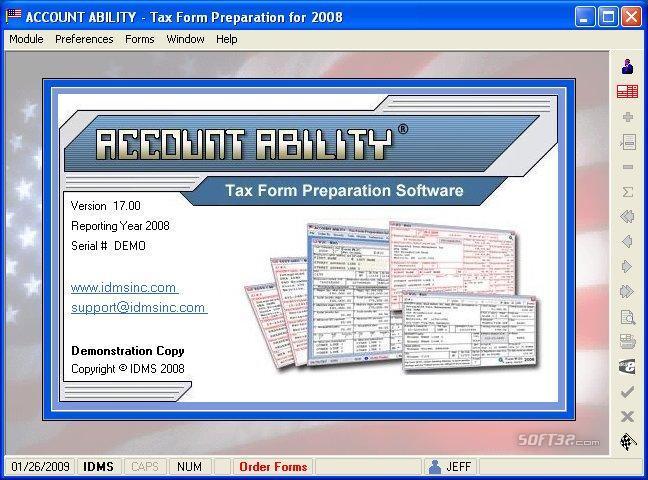 Account Ability Tax Form Preparation Screenshot 2
