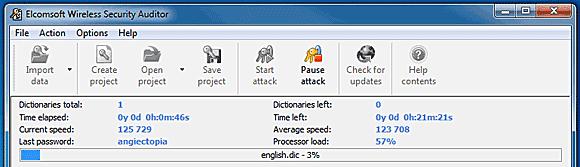 Elcomsoft Wireless Security Auditor Screenshot 1