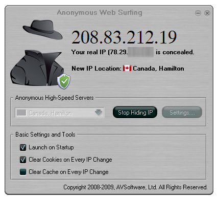 Anonymous Web Surfing Screenshot 1