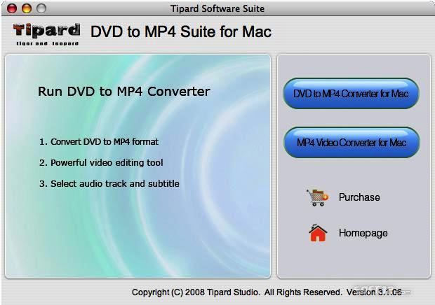 Tipard DVD to MP4 Suite for Mac Screenshot 2