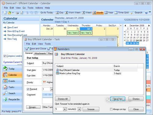 Efficient Calendar Screenshot 2