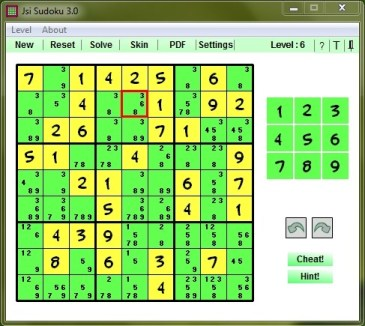 jsiSudoku Screenshot