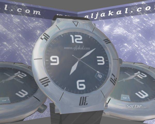 3D Clock Screensaver Screenshot 2